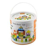 Кубики Viga Toys Ферма, 50 шт., 3 см (50285)