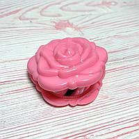 """Кишеньковий дзеркало Троянда """"Рожева"""", фото 1"""