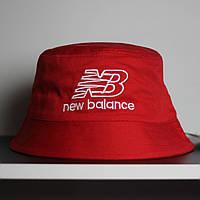 Панама New Balance красная. Стильная летняя шляпа красного цвета. , фото 1