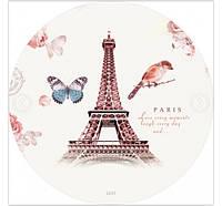 Пляжный круглый коврик, покрывало, подстилка принт Париж