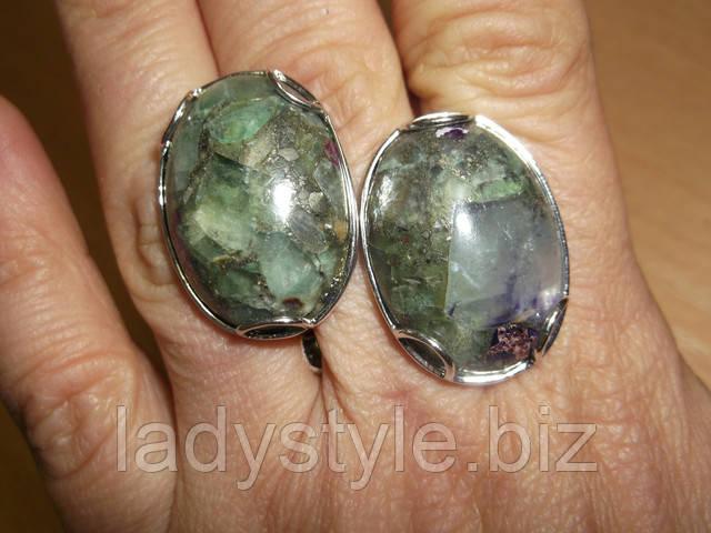 купить кольцо перстень украшения флюорит пирит оберег подарок студия леди стиль