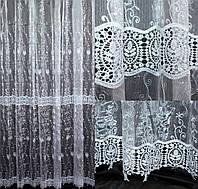 "Нарядная тюль, гардина из ткани  ""Кристалон"". (3х2,5м.), Код 555т 40-201, фото 1"