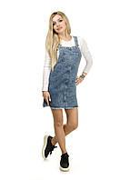 Женский джинсовый сарафан XRAY 3XL Серо-голубой  2975-46, КОД: 1629200