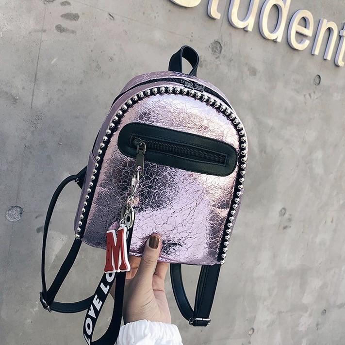 Женский рюкзак мини с брелком M+Love 🎁 В подарок браслет и кукла