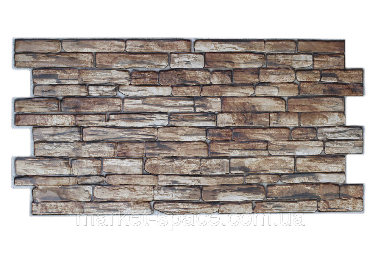 Листовые декоративные панели из ПВХ «Коричневый камень»