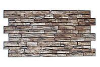 Декоративні панелі з ПВХ «Коричневий камінь»