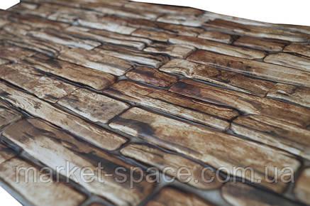 Листовые декоративные панели из ПВХ «Коричневый камень», фото 2