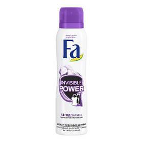 Дезодорант-аэрозоль Fa Invisible Power Прозрачная защита с ароматом пудрового хлопка 150 мл