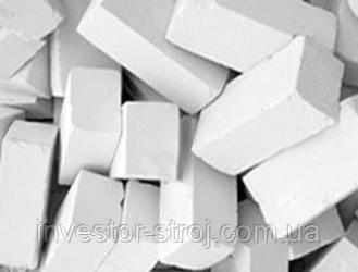 Кирпич белый силикатный полуторный 88*12*250 мм. Производство - Куряж, Солоницевка