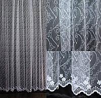 Гардина (3*2,5м) фатин с вышивкой. Цвет белый. Код 542т 40-210, фото 1