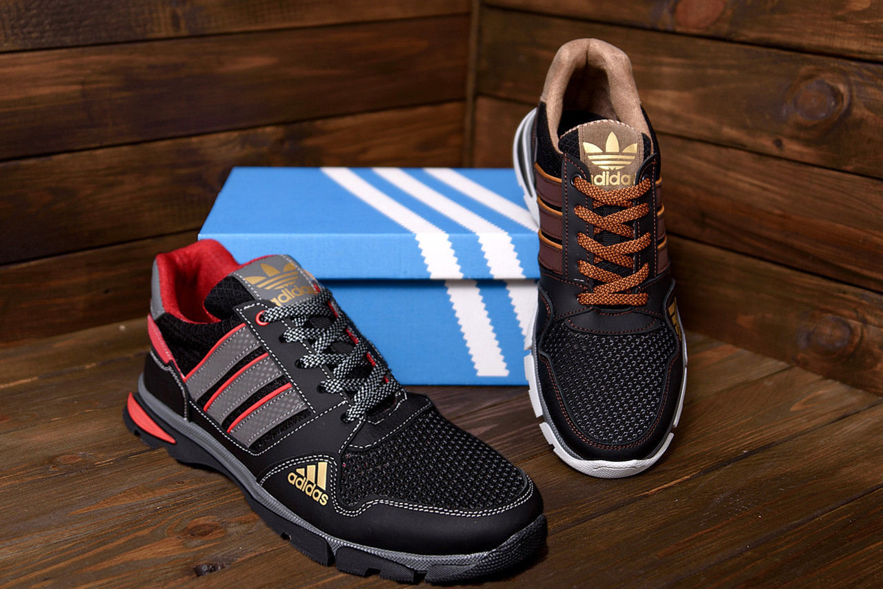 Мужские летние кроссовки в стиле Adidas Tech Flex 40-45/ ПК-С 901 черн
