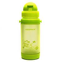 Бутылочка - поильник с трубочкой UZspace 3039 baby 320 мл, салатовая