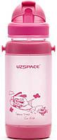 Бутылочка - поильник с трубочкой UZspace 3039 baby 320 мл, розовая