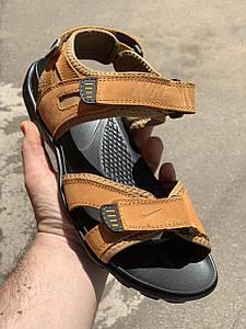 Спортивные  мужские кожаные сандалии NIKE.