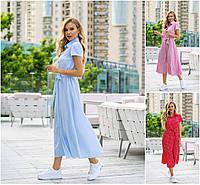 Р 42-52 Літнє плаття сорочка, нижче коліна 21869, фото 1
