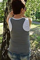 Майка двойка женская серая, фото 2