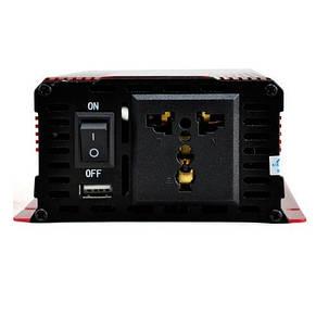 Преобразователь инвертор тока AC/DC UKC KC-1000D 1000W 12V LCD, фото 2