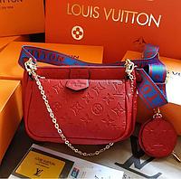 Женская сумка Louis Vuitton 3 в 1, сумка Louis Vuitton люкскопия, сумка Луи Виттон 3 в 1 реплика, сумка ЛВ эко