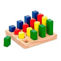 """Набор деревянных блоков Viga Toys """"Форма и размер"""" (51367), фото 1"""