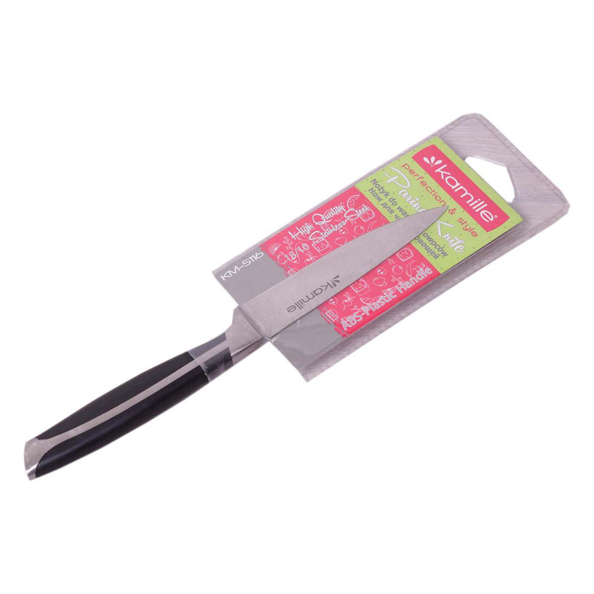 Нож кухонный Kamille для чистки овощей с ручкой из ABS-пластика