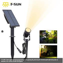 Уличный светильник на солнечной батарее T-SUN IP65 6000K кабель 3м