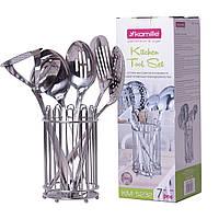 Набор кухонных принадлежностей Kamille 6 предметов в комплекте с подставкой KM-5232