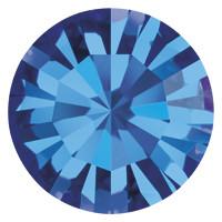 Пришивные стразы в цапах Preciosa (Чехия) ss48 Capri Blue/платина