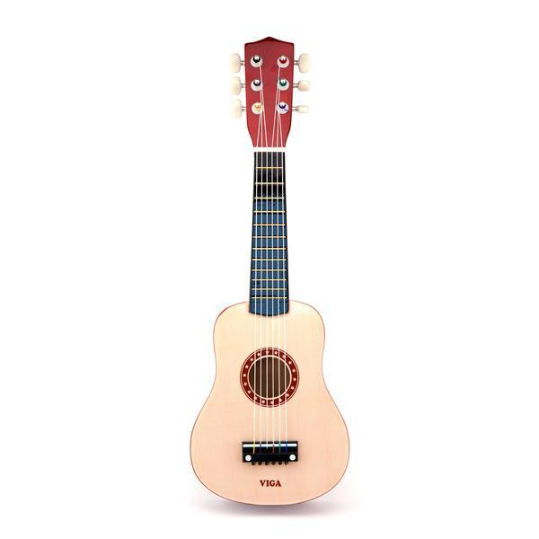 Игрушка музыкальная Viga Toys Гитара, бежевый (50692)