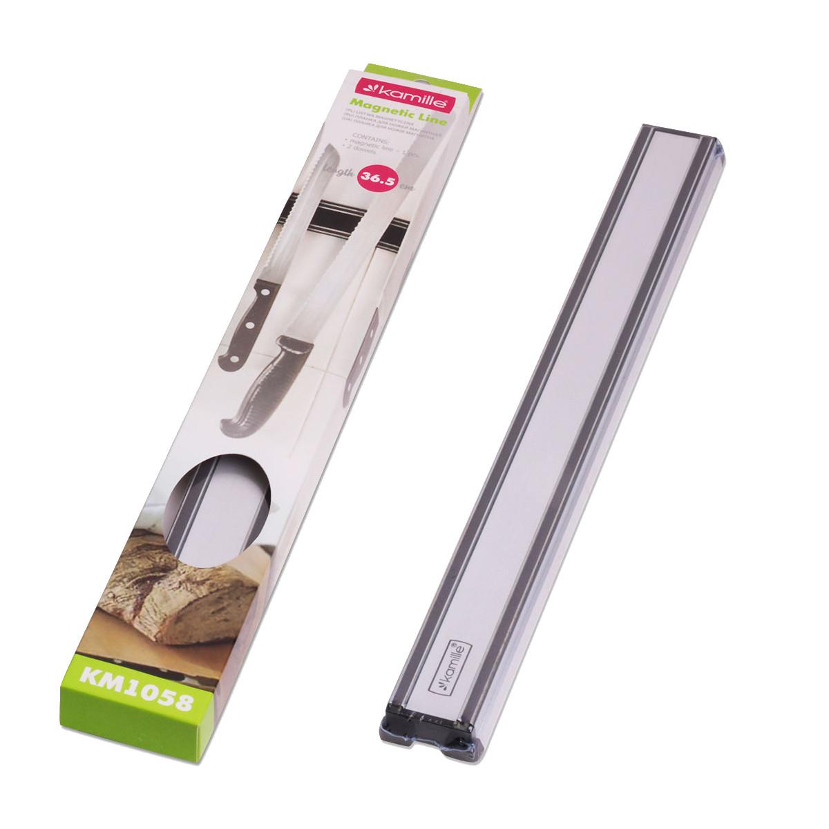 Тримач магнітний для ножів Kamille 36,5*4,5*.2см KM-1058