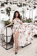 ВП4216 Красивое длинное женское платье на запах