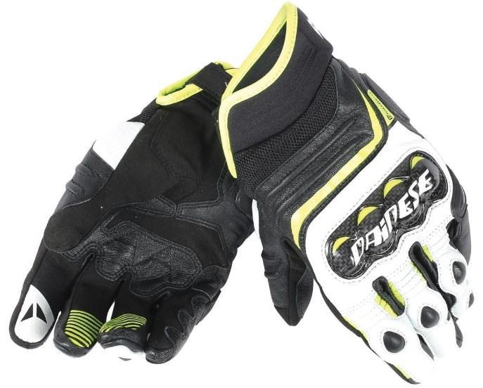 Мотоперчатки Dainese Carbon D1 Short Black/White/Yellow