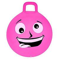 Мяч-прыгун детский с ручкой Spokey Emoti1 45см 925484, детский фитбол, гимнастический мяч для фитнеса
