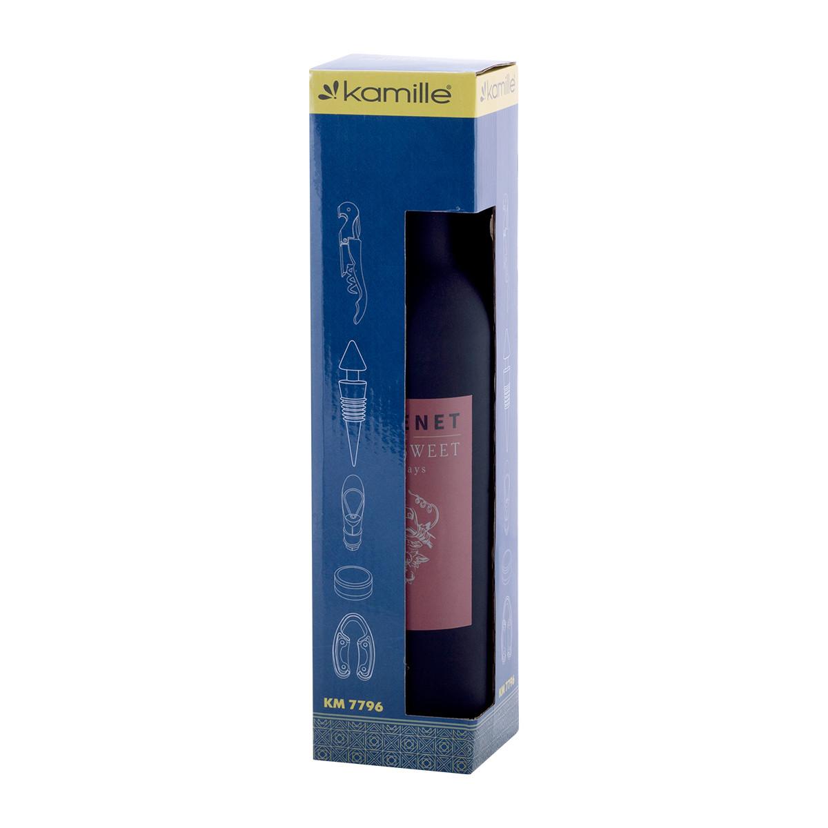 Набор сомелье для вина Kamille 7*7*32см из нержавеющей стали KM-7796