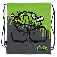 Сумка для сменной обуви в школу мальчику YES SB-10 Zombie 40х35см Серый (532892)