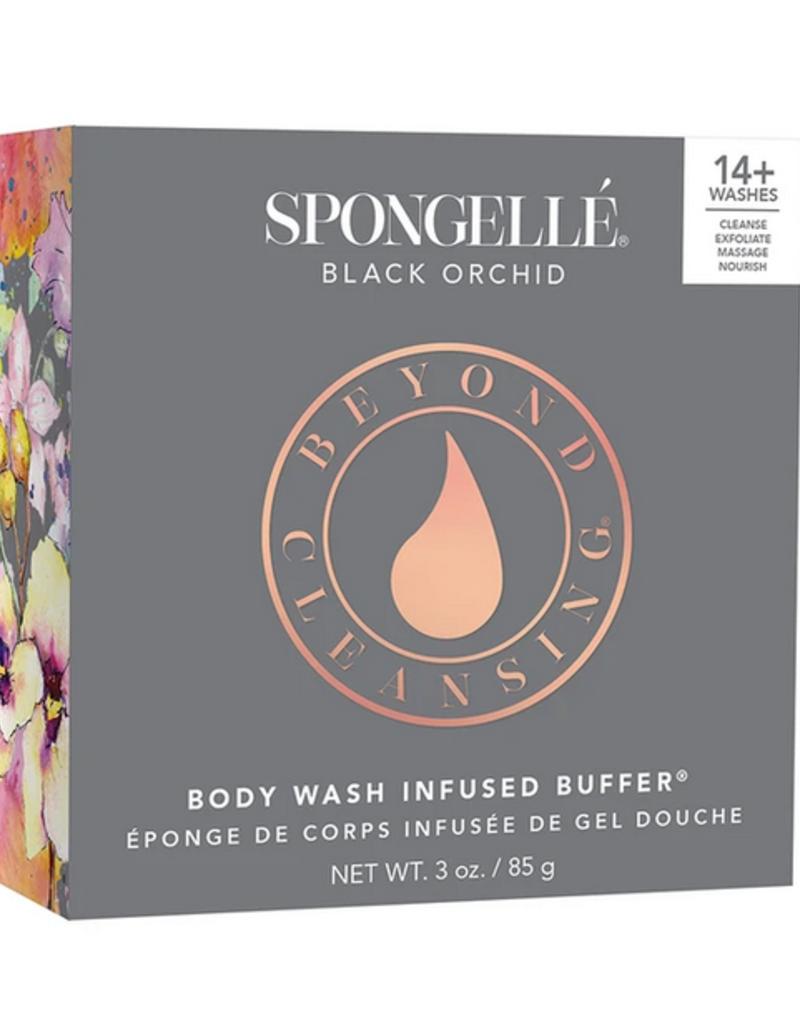 Пенная многоразовая губка для душа Spongelle Body Wash Infused Buffer Black Orchid