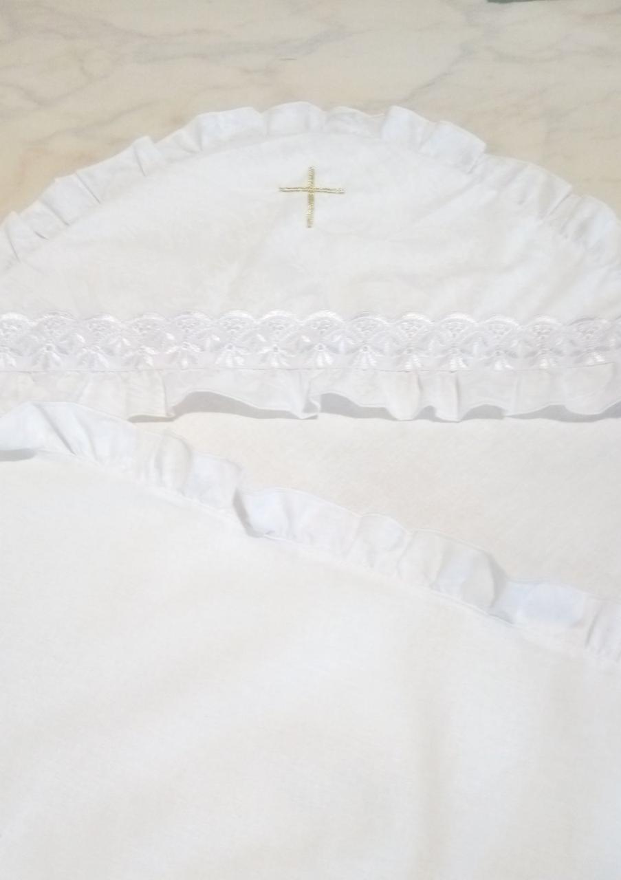 Крыжма для крещения белая