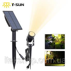 Светильник T-SUN на солнечной батарее IP65 6000K кабель 3м Фонарь
