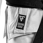Кимоно для Бразильского Джиу-Джитсу Ground Force Basic Белое, фото 5