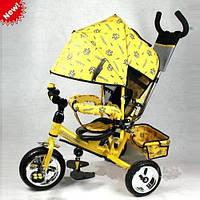 Детский трехколесный велосипед M 0448 PROFI-TRIKE с ручкой EVA
