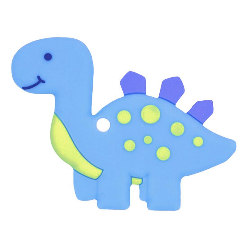 Прорезыватель Динозаврик, голубой