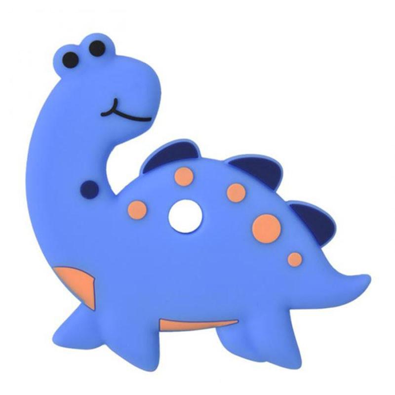 Прорезыватель Апатозавр, голубой