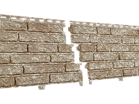Фасадные панели U-Plast Stone House Кварцит (светло-бежевый)