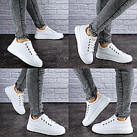 Женские кеды летние белые Bruiser 1787 Размер 37 - 23,5 см по стельке, обувь женская
