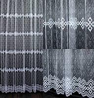 Гардина (3*2,5м) фатин с вышивкой. Цвет белый. Код 541т 40-221, фото 1