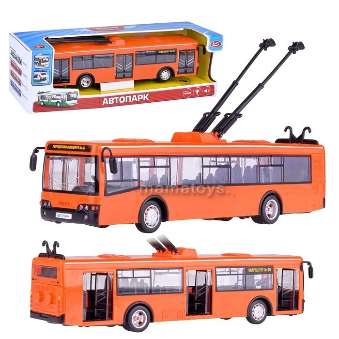 """Машинка Автопарк """"Троллейбус"""" арт. 9690 B"""