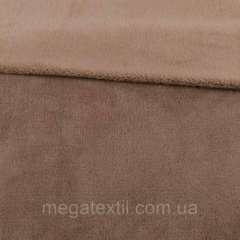 Велсофт двухсторонний бежево-коричневый, ш.180 (23234.027)