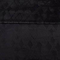 Велсофт двухсторонний черный с тиснением ромбы, ш.220 (23236.004)