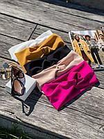 Повязка-полутюрбан женская трендовая стильная разные цвета Shfl162