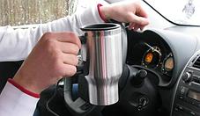 Автомобильная дорожная термокружка с подогревом от прикуривателя 12 VCUP 2240, фото 3