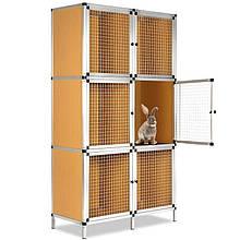 Клетка для развода кроликов, хомяков и других мелких животных, на 6 секций